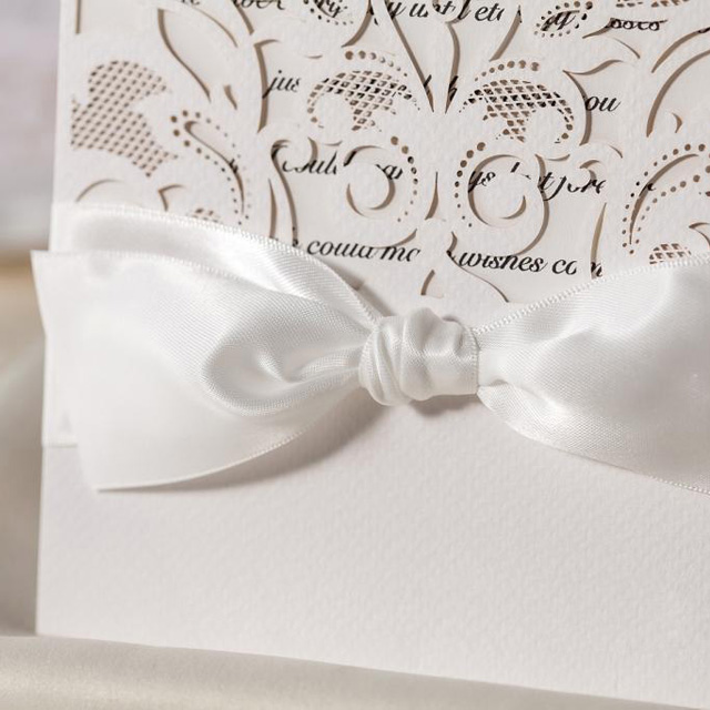 Moderne Metallic Neue Hochzeitskarten In Laserdruck Mit Satin
