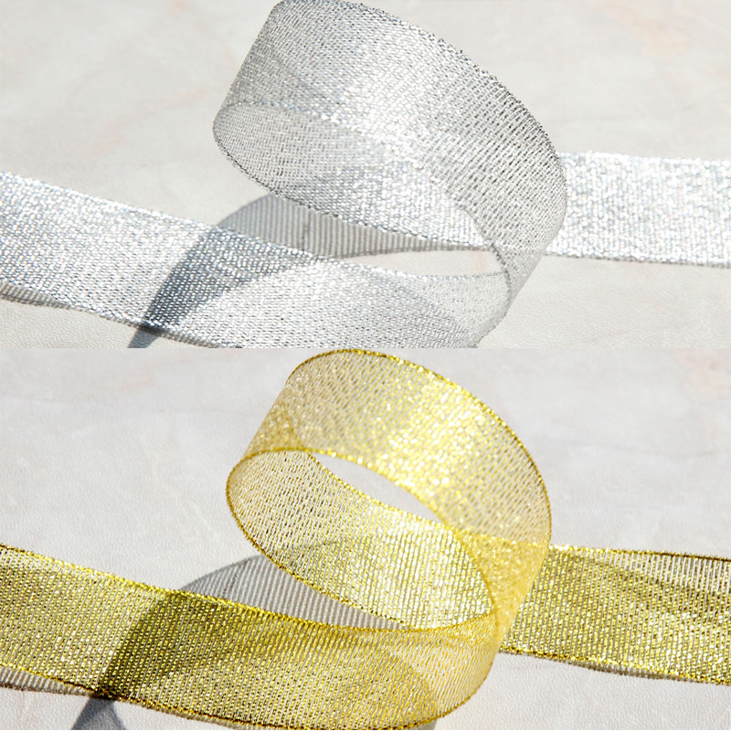 2cm Glitter Band Gold & Silber Dekoration CKSD01