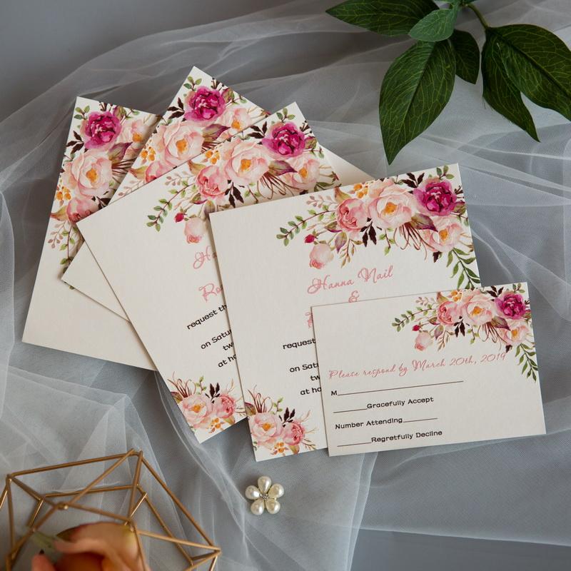 Florale Blumen Hochzeitskarten Mit Uv Druck Cupt01 Cupt01 0 00