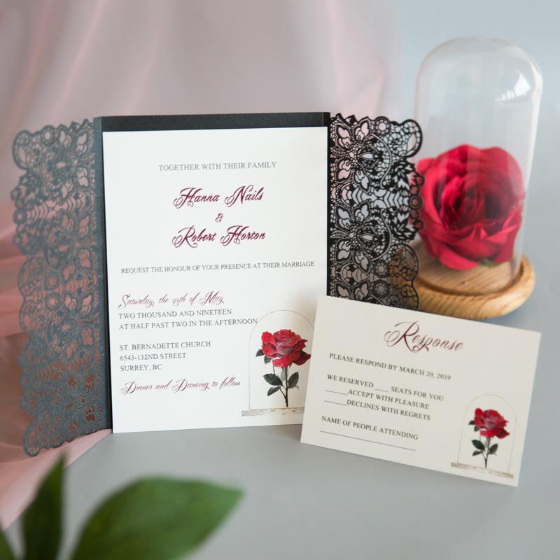 Rote Rose Hochzeitskarten Mit Uv Druck Cupt10 Cupt10 0 00