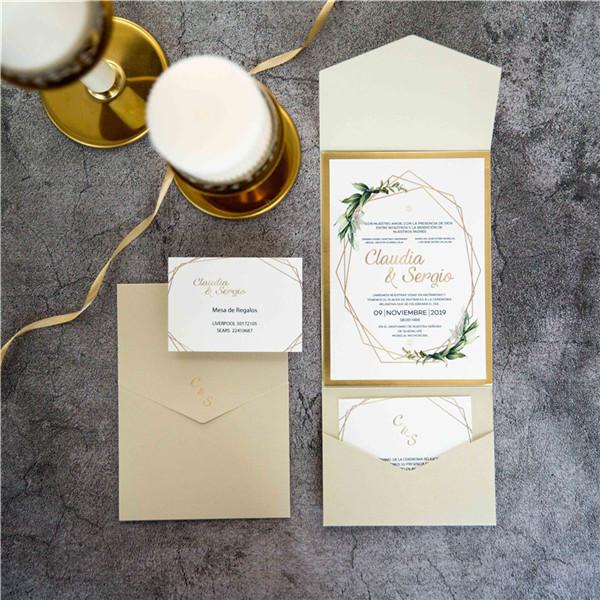 Pocket Fold Einladungen Zur Hochzeit WPFA2115