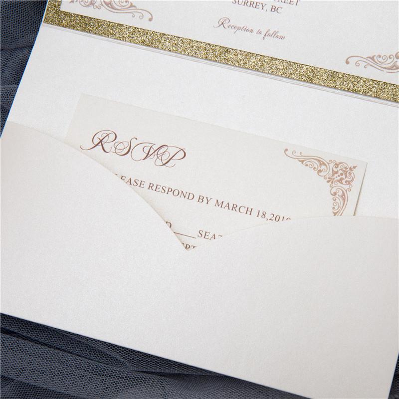 Lasercut Pocket Fold Einladungen Zur Hochzeit WPFB2121