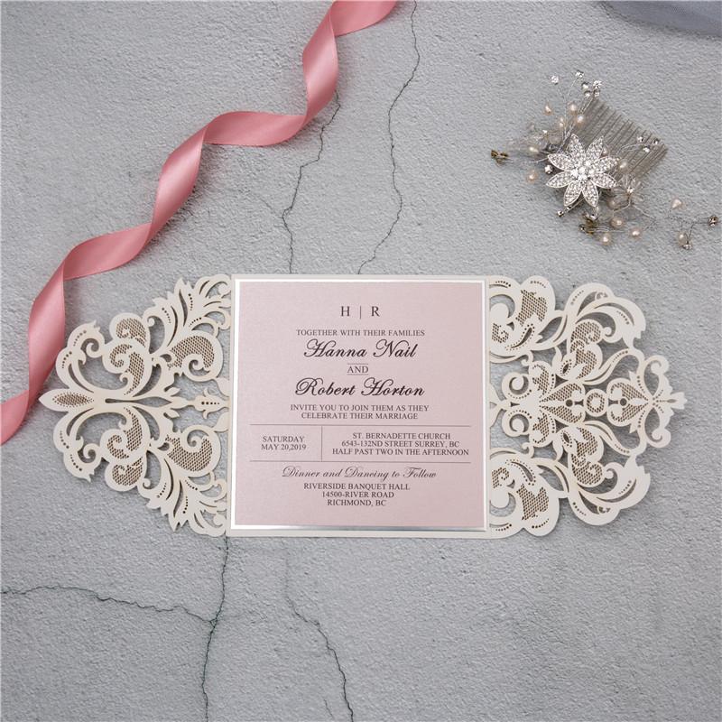 Glitter Papier Lasercut Einladungen Hochzeit Wpl0002g Wpl0002g