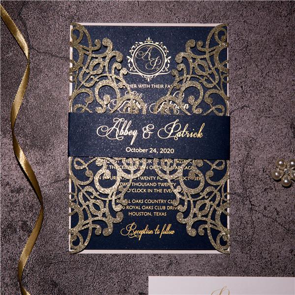 glitter papier lasercut einladungen : günstige hochwertige, Einladung