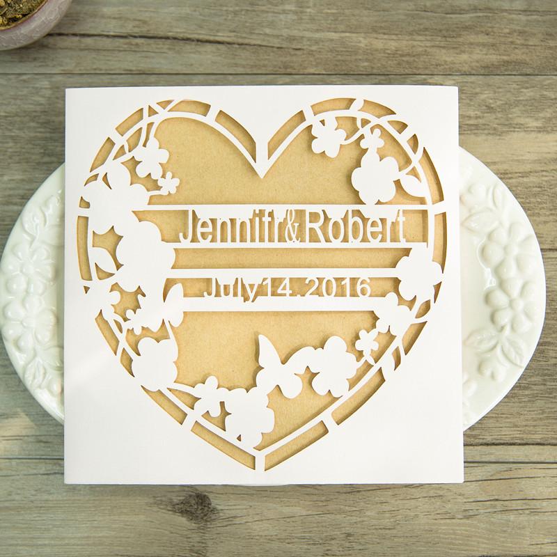 Lasercut Herz Hochzeitskarte Mit Namen Wpl0142 Wpl0142 0 00