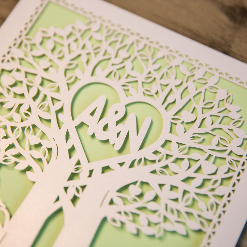 Personalisierte Laserdruck Hochzeitskarte Mit Namen Wpl0147 Wpl0147