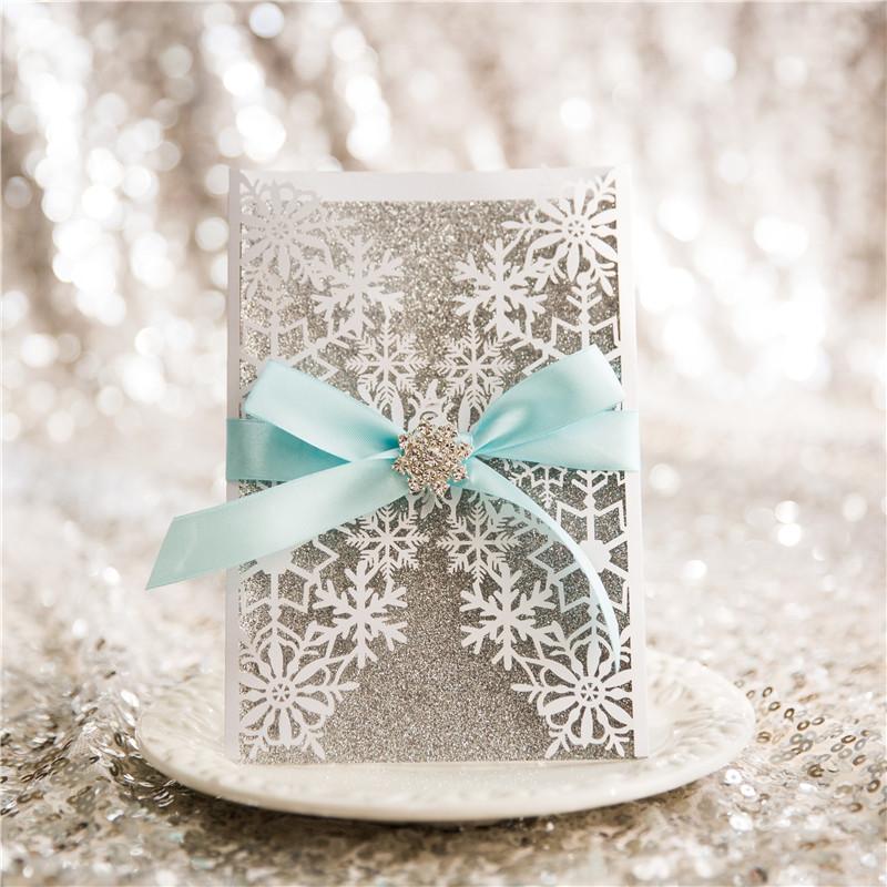 Lasercut Schneeflocke Winter Hochzeit WPL0154